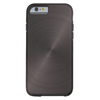 Schwarzes Metall Tough iPhone 6 Hülle