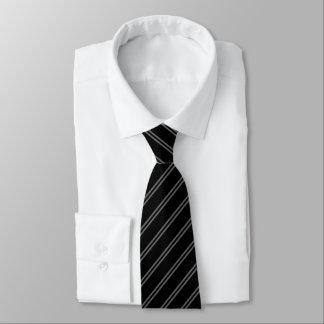 Schwarzes mit doppeltem Button Stripes Krawatte