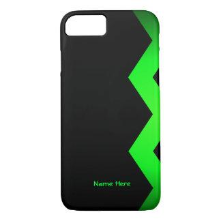 Schwarzes mit Limonem grünem iPhone 8/7 Hülle