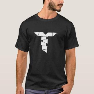 Schwarzes mit weißem Logo T-Shirt