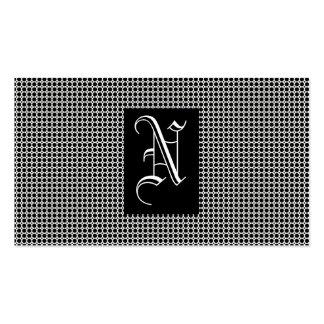 Schwarzes Monogramm Visitenkartenvorlage