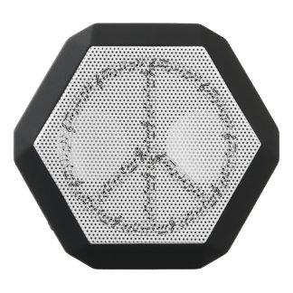 Schwarzes musikalische Anmerkungs-rundes Schwarze Bluetooth Lautsprecher