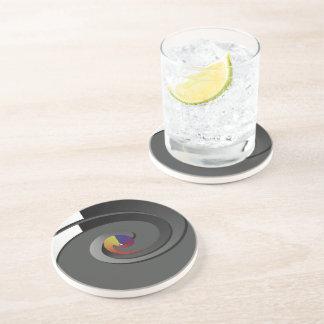 Schwarzes Muster, trinkender Untersetzer - 4