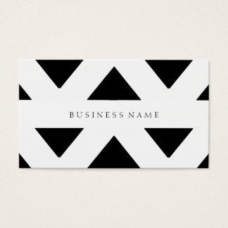 Schwarzes Muster Visitenkarten