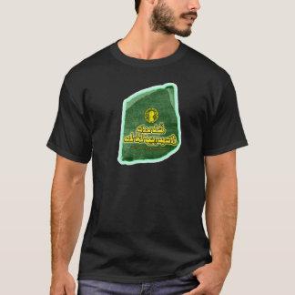 Schwarzes nachhaltiges Baumwollt-stück 100% T-Shirt