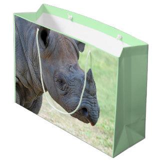 Schwarzes Nashorn Große Geschenktüte