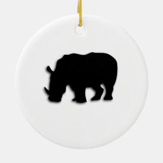 Schwarzes Nashorn Keramik Ornament