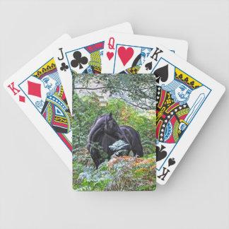 Schwarzes neues Waldpony u. Wald Großbritannien Bicycle Spielkarten