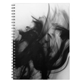 Schwarzes Notizbuch des Feuer-IV durch Künstler Spiral Notizblock