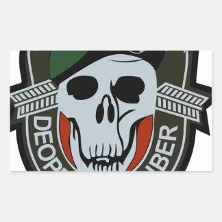 SCHWARZES OPS Militär der Kraft-bessert aus Rechteckiger Aufkleber