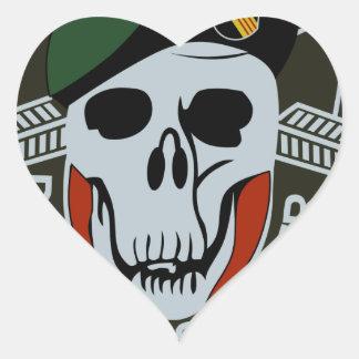 SCHWARZES OPS Militär der Kraft-bessert aus Herz-Aufkleber