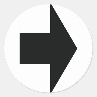 schwarzes Pfeilrecht Runde Sticker