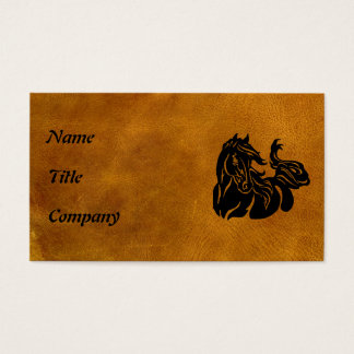 Schwarzes Pferd besonders angefertigt Visitenkarte