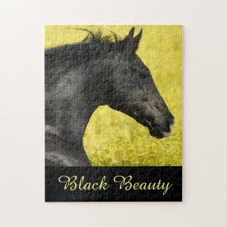 Schwarzes Pferdepuzzlespiel Puzzle