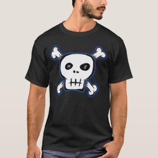 Schwarzes Punkschädel-Shirt T-Shirt