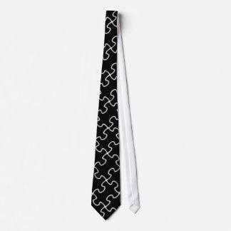 schwarzes Puzzlespielmuster Bedruckte Krawatten