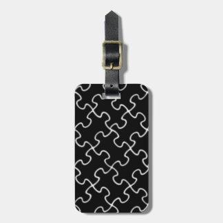 schwarzes Puzzlespielmuster Gepäckanhänger