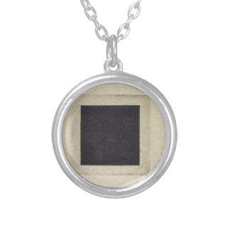 Schwarzes Quadrat durch Kazimir Malevich Versilberte Kette