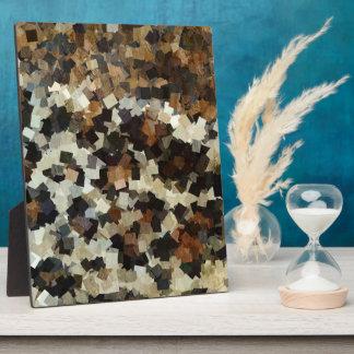 Schwarzes Quadrat-Muster Leopard-Art-Browns Fotoplatte