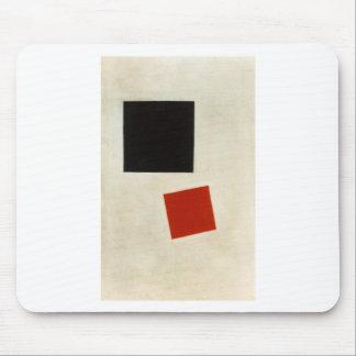 Schwarzes Quadrat und Roter Platz durch Kazimir Mauspads