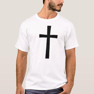 Schwarzes QuerShirt T-Shirt