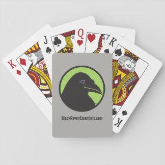Schwarzes Raben-Wesensmerkmale-Logo-Spielkarten Spielkarten