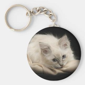 schwarzes ragdoll Kätzchen keychain Schlüsselanhänger