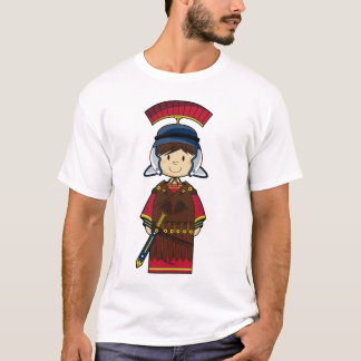 Schwarzes römisches Soldat-T-Stück T-Shirt