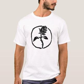 Schwarzes Rosen-Anarchie-Shirt T-Shirt
