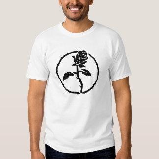 Schwarzes Rosen-Anarchie-Shirt Tshirts