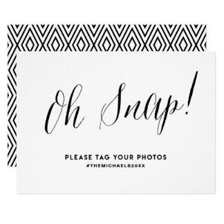 Schwarzes rustikales Kalligraphie Instagram Karte