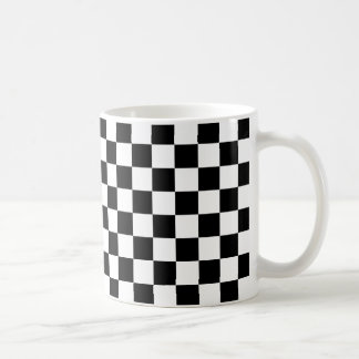 Schwarzes Schachbrett Kaffeetasse