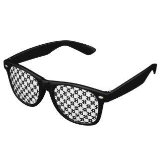 Schwarzes Schachbrett-Muster Retro Sonnenbrillen