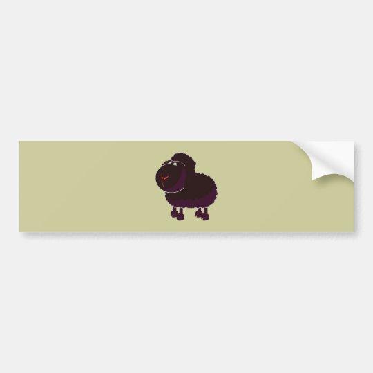 schwarzes Schaf black sheep Autoaufkleber