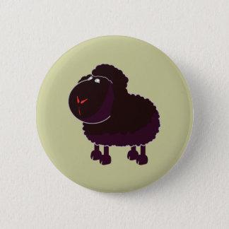 schwarzes Schaf black sheep Runder Button 5,7 Cm