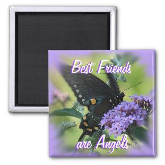 Schwarzes Schmetterling-fertigen besonders an Quadratischer Magnet