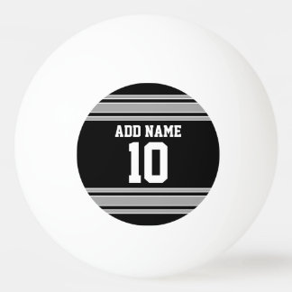 Schwarzes Silber trägt Jersey mit Ihrem Namen u. Ping-Pong Ball