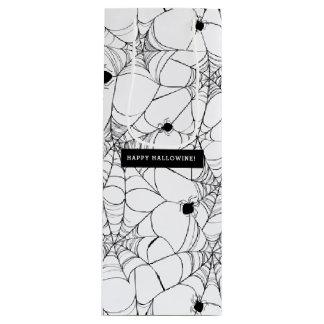 Schwarzes Spinnen-Netz Halloween Hallowine Geschenktüte Für Weinflaschen