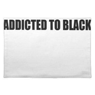 Schwarzes Stofftischset