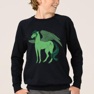 Schwarzes Sweatshirt Mansarden-Pegasus