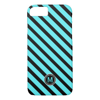 Schwarzes Swimmingpool-blaues diagonales iPhone 8/7 Hülle