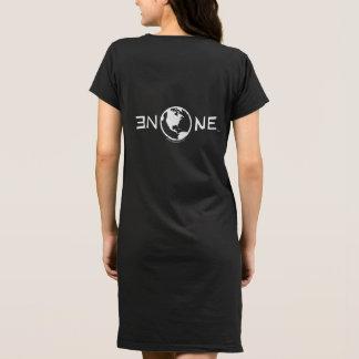 Schwarzes T - Shirt-Kleid (Front/hinterer Druck) Kleid