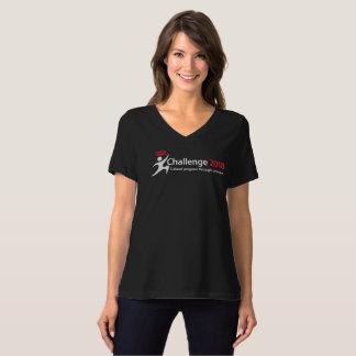 Schwarzes T-Stück der Herausforderungs-2018 T-Shirt