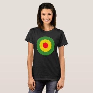 Schwarzes T-Stück Rasta Reggae roundel T-Shirt