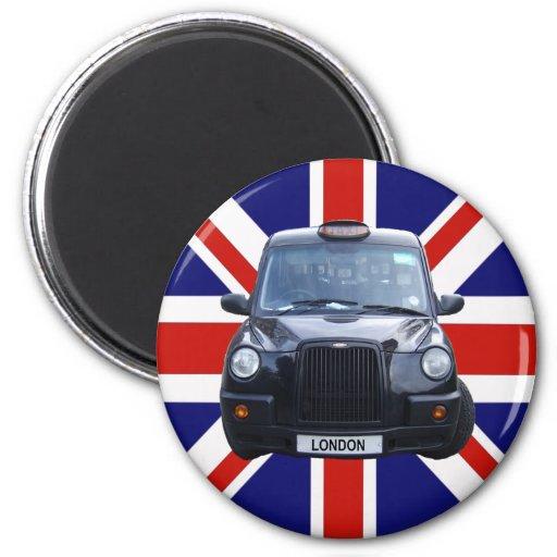 Schwarzes Taxi Londons Kühlschrankmagnete
