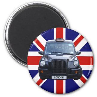 Schwarzes Taxi Londons Runder Magnet 5,7 Cm