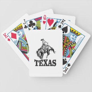 Schwarzes Texas Bicycle Spielkarten