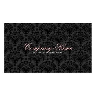 Schwarzes tont Vintages Orante Blumendamast-Muster Visitenkarten