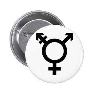 Schwarzes Transgender-Symbol Runder Button 5,1 Cm