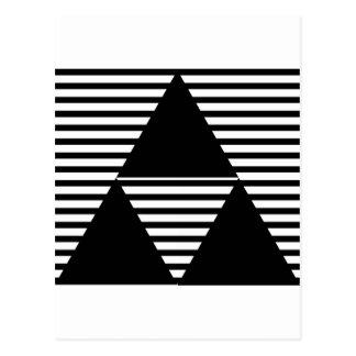 Schwarzes TRI Dreieck Postkarte